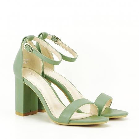Sandale verde fistic cu toc gros Ingrid [6]