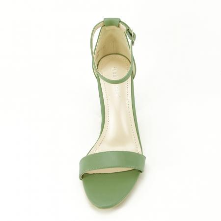 Sandale verde fistic cu toc gros Ingrid [3]