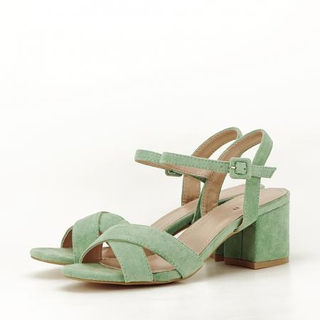 Sandale verde fistic cu toc mic Natalia1