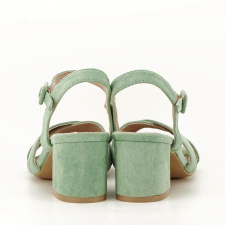 Sandale verde fistic cu toc mic Natalia3