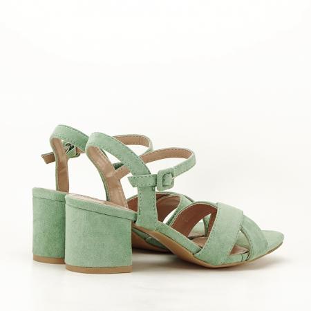 Sandale verde fistic cu toc mic Natalia5