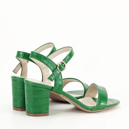 Sandale verzi cu imprimeu Violeta [5]