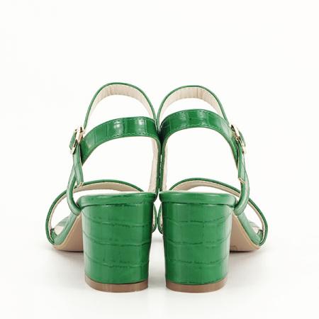 Sandale verzi cu imprimeu Violeta [6]