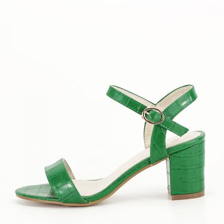 Sandale verzi cu imprimeu Violeta [0]