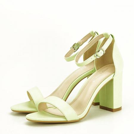 Sandale verzi cu toc gros Ingrid 2 [0]