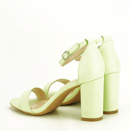 Sandale verzi cu toc gros Ingrid 2 [3]
