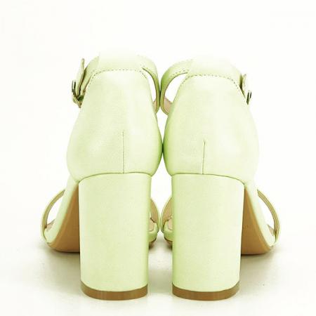 Sandale verzi cu toc gros Ingrid 2 [5]