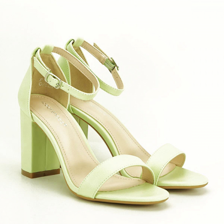 Sandale verzi cu toc gros Ingrid 2 [2]