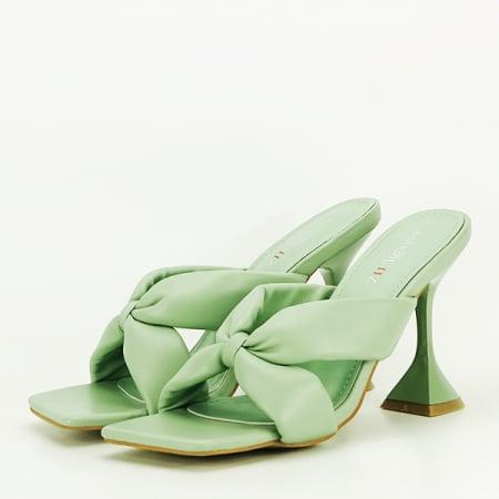 Sandale verzi cu toc Sonia [0]