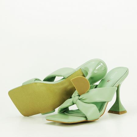 Sandale verzi cu toc Sonia [7]