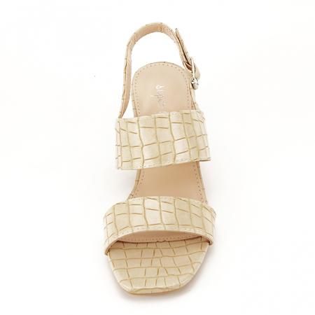Sandale bej cu toc mic Edith [5]