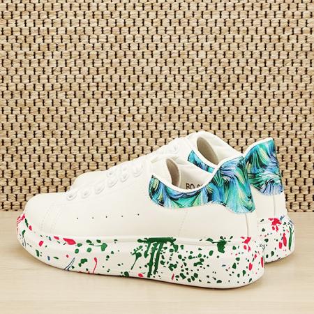 Sneakers alb cu albastru Larra [3]
