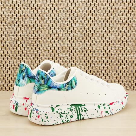Sneakers alb cu albastru Larra [4]