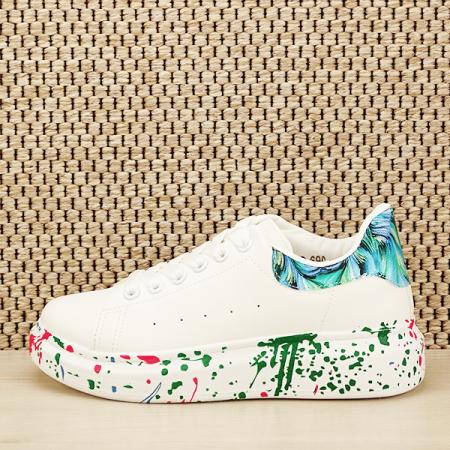 Sneakers alb cu albastru Larra [1]