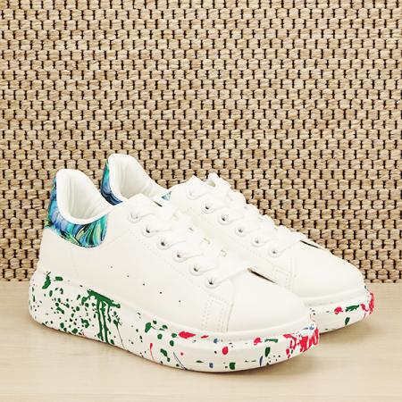 Sneakers alb cu albastru Larra [2]
