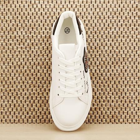Sneakers alb cu brosa Mina [6]