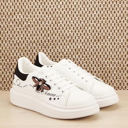 Sneakers alb cu brosa Riana [2]