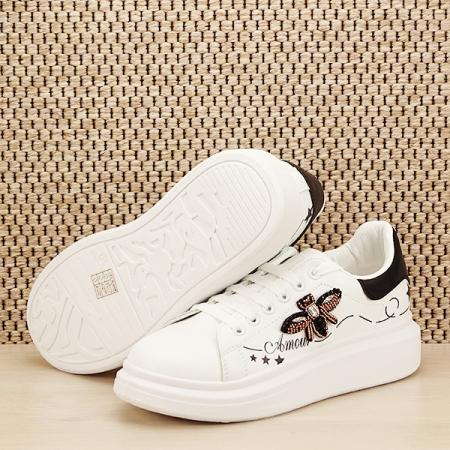 Sneakers alb cu brosa Riana [7]