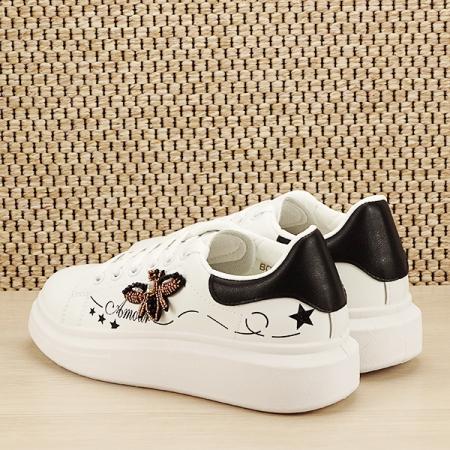 Sneakers alb cu brosa Riana [3]