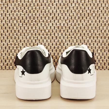 Sneakers alb cu brosa Riana [5]