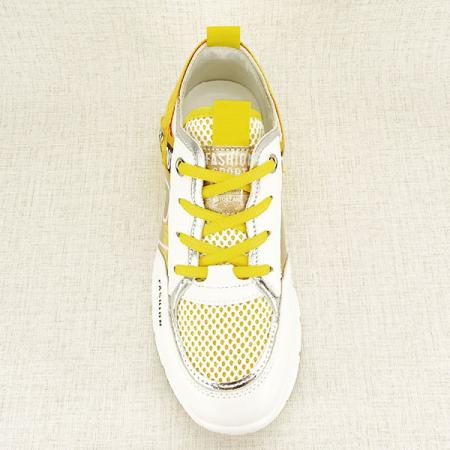 Sneakers alb cu galben Mara [7]