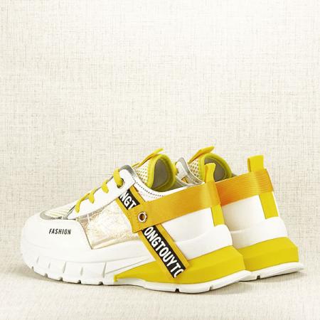 Sneakers alb cu galben Mara [4]