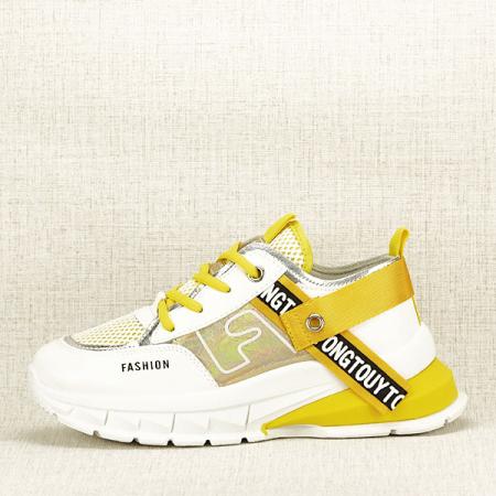 Sneakers alb cu galben Mara [0]