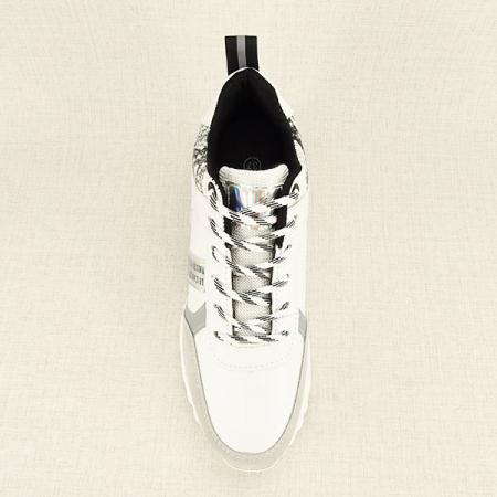 Sneakers alb cu gri High-Top Marta1