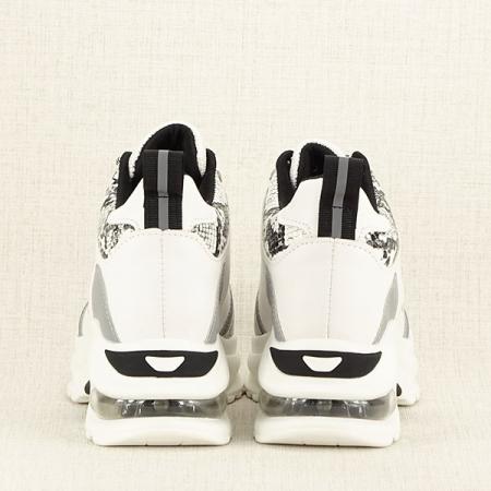 Sneakers alb cu gri High-Top Marta6