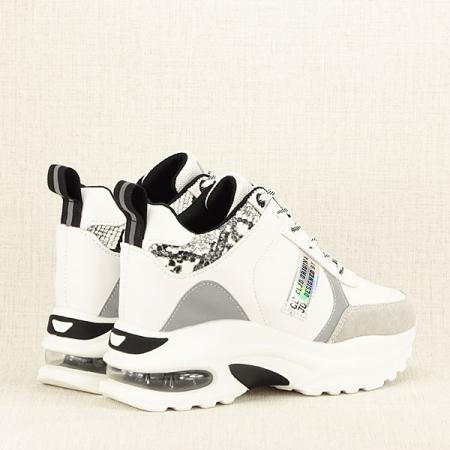 Sneakers alb cu gri High-Top Marta5