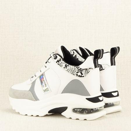 Sneakers alb cu gri High-Top Marta4