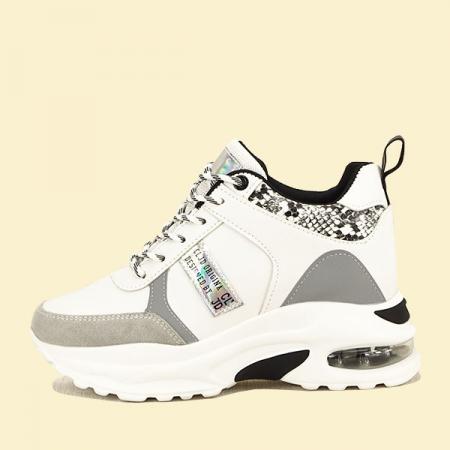 Sneakers alb cu gri High-Top Marta0