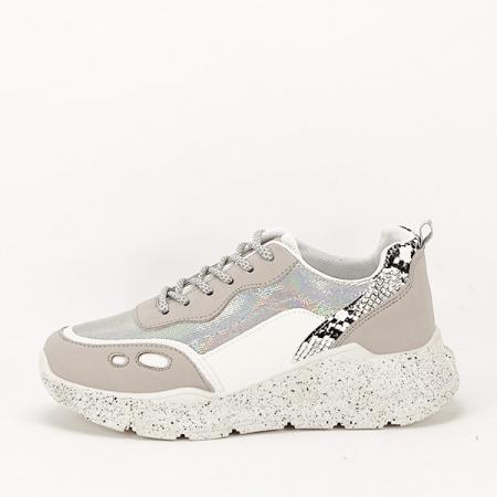Sneakers alb cu gri Leila [0]