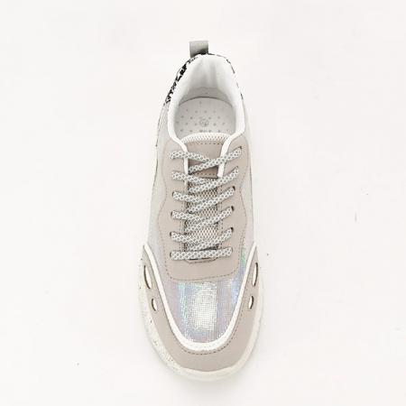 Sneakers alb cu gri Leila [5]