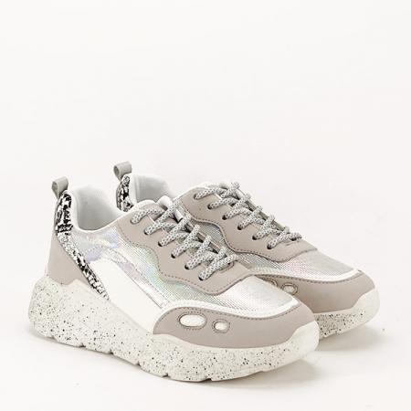 Sneakers alb cu gri Leila [2]