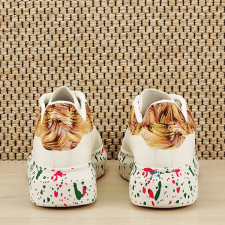 Sneakers alb cu imprimeu Larra [5]