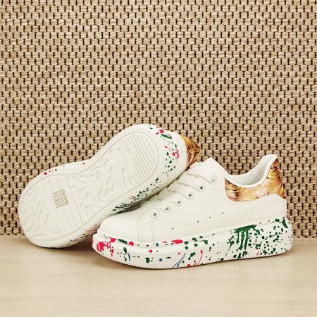 Sneakers alb cu imprimeu Larra [7]