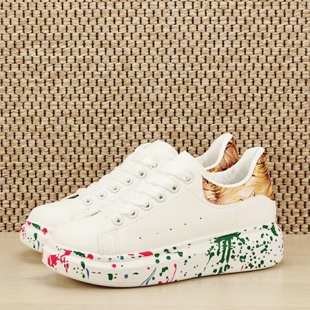 Sneakers alb cu imprimeu Larra [1]