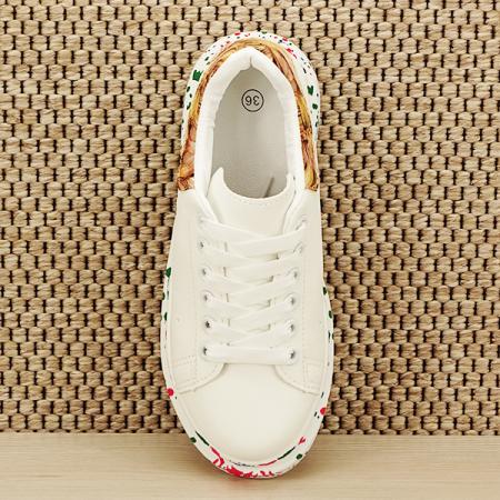 Sneakers alb cu imprimeu Larra [6]