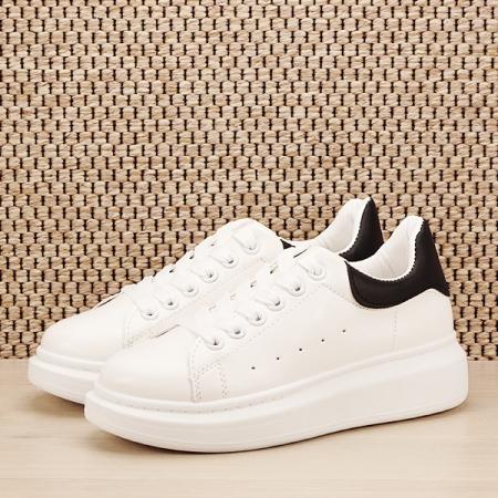 Sneakers alb cu negru Madison [0]