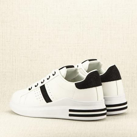 Sneakers alb cu negru Sonia 2 [4]