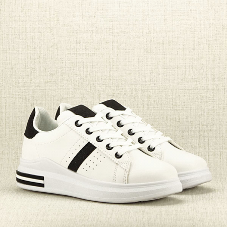 Sneakers alb cu negru Sonia 2 [3]