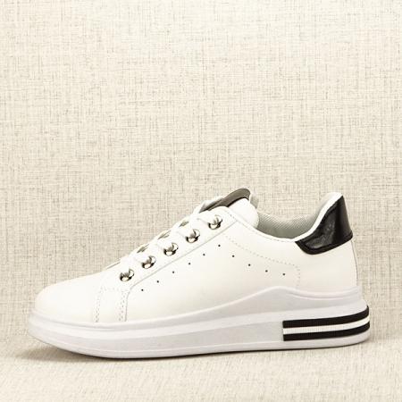 Sneakers alb cu negru Sonia0