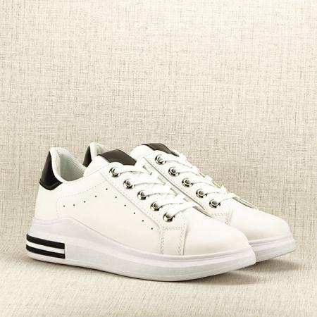 Sneakers alb cu negru Sonia3