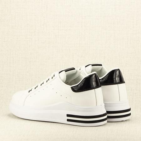 Sneakers alb cu negru Sonia5