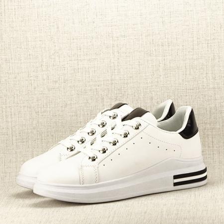 Sneakers alb cu negru Sonia2