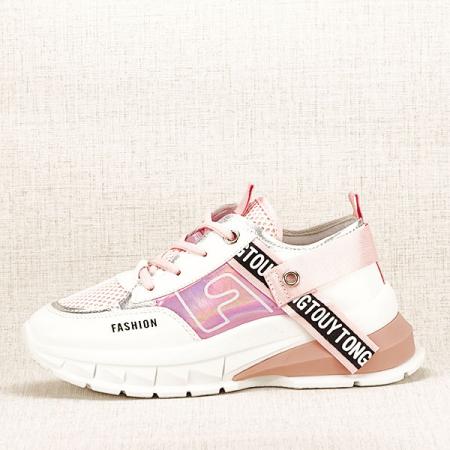 Sneakers alb cu roz Mara [0]