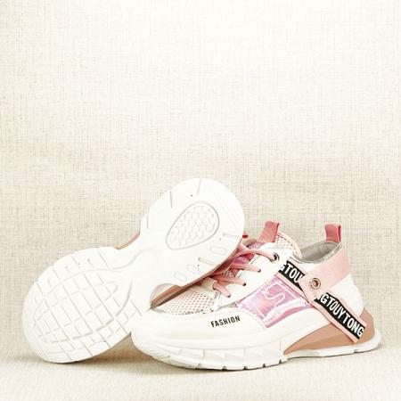 Sneakers alb cu roz Mara [3]