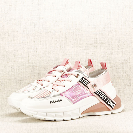 Sneakers alb cu roz Mara [1]