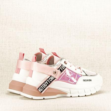 Sneakers alb cu roz Mara [6]